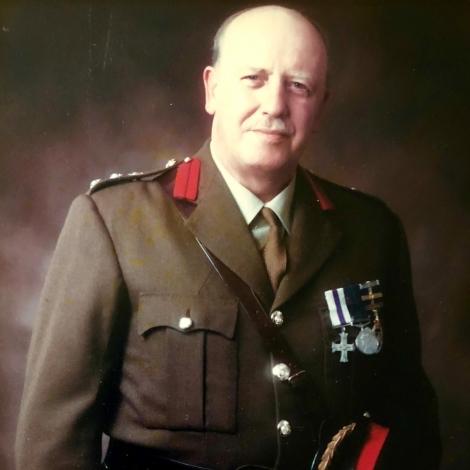 O falecido coronel John A Butler MC. TD.